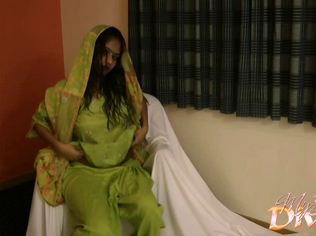 Gal  028. Divya in green shalwar suit stripping naked have sexual intercourse her off